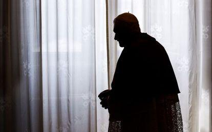 Benedicto XVI después de una reunión con el presidente de Sri Lanka.