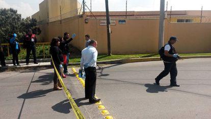 El lugar del asesinato el juez en Metepec.