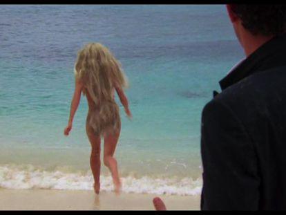Versión retocada del cuerpo de Daryl Hannah en '1, 2, 3... Splash' que se puede ver en Disney+.