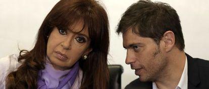Cristina Fernández junto al ministro de Economía argentino, Axel Kicillof.