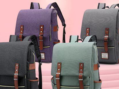 La mochila de lona más estilosa para la vuelta al cole o la oficina, ahora por menos de 25 euros en Amazon.