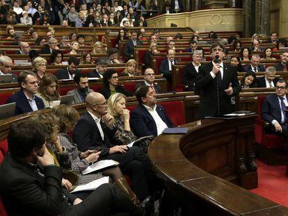 Sesión en el Parlament el pasado día 8 de marzo.