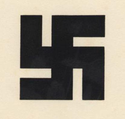 Wilhelm F. Deffke, uno de los inventores del logotipo como emblema corporativo, trabajó en una reinterpretación de la rueda del sol de tradición alemana, depurando sus formas. Este fue el resultado que, para el crítico de artes visuales Steven Heller, fue el que dio origen a la esvástica nazi.