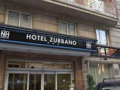 Fachada de uno de los hoteles que la cadena NH tiene en Madrid.