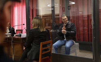 Norbert Feher en la Audiencia de Teruel durante el juicio de este martes.