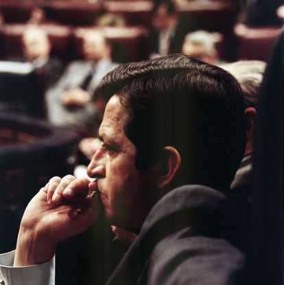 Adolfo Suárez en el Congreso en una imagen sin datar.