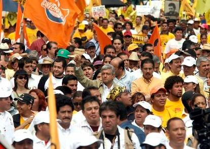 Marcha a favor del recuento de votos tras las elecciones de 2006.