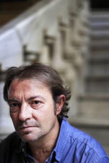 El escritor Juan Gracia Armendáriz, en Madrid.