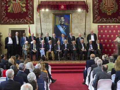 El jurado de los últimos premios Rey Jaime I, formado solo por hombres.