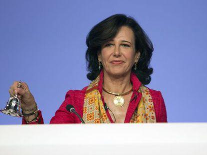 Ana Patricia Botin, presidenta del Banco Santander, en la junta de accionistas.