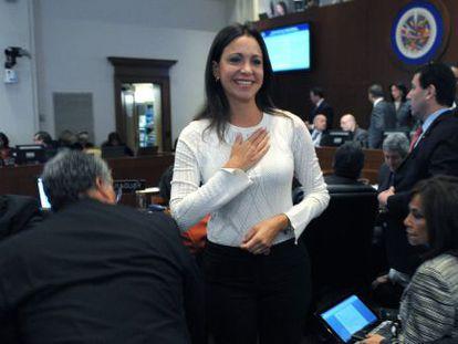 Maria Corina Machado, en la OEA.