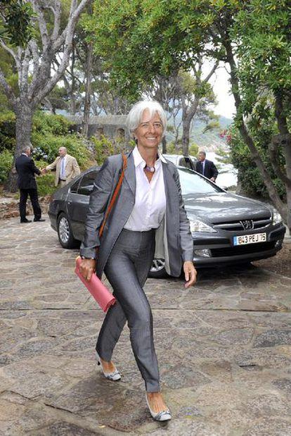 La ministra Lagarde, a su llegada ayer a la reunión del Gobierno.