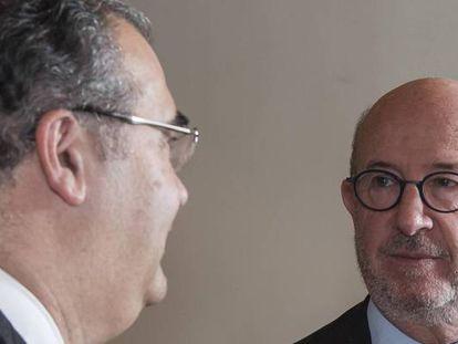 Ángel Ron y Emilio Saracho, expresidentes del Popular.