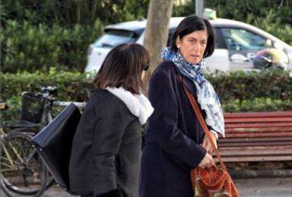 La exgerente de FGV Marisa Gracia, absuelta tras retirarse los cargos, hoy tras el juicio.
