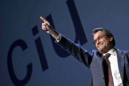 Artur Mas, en su intervención en el acto celebrado en Viladecans (Barcelona).