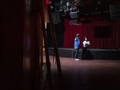Sala de conciertos El Sol, de Madrid, cerrada por la pandemia, en septiembre de 2020.