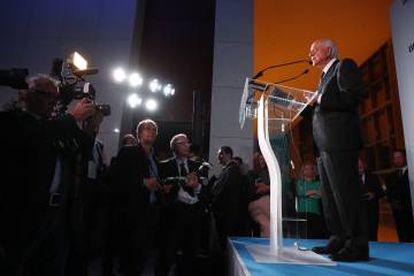 El presidente del BBVA, Francisco González, en la inauguración en Buenos Aires.
