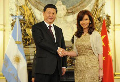 La presidenta Cristina Fernández se reúne con su par chino, Xi Jinping.