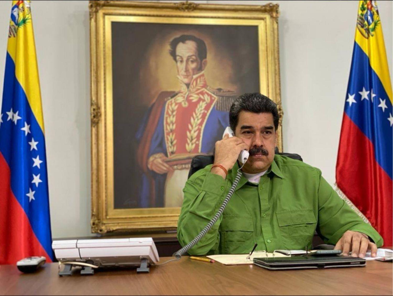 Nicolás Maduro, en el Palacio de Miraflores, en Caracas.