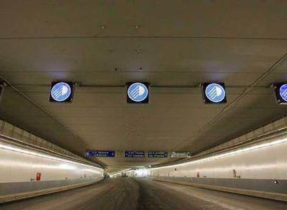 Túnel de seis kilómetros del anillo exterior de la M-30 que será inaugurado el próximo viernes.