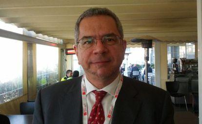 Leonidas Kanellos en el Mobile World Congress de Barcelona.