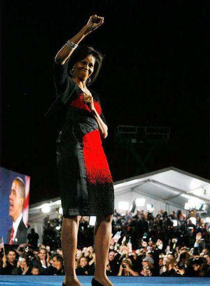 Michelle Obama, con el diseño de Narciso Rodríguez.