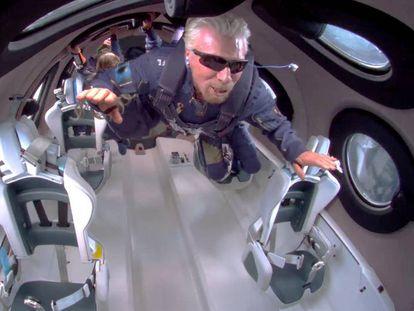 El multimillonario británico Richard Branson, un pionero del turismo espacial.