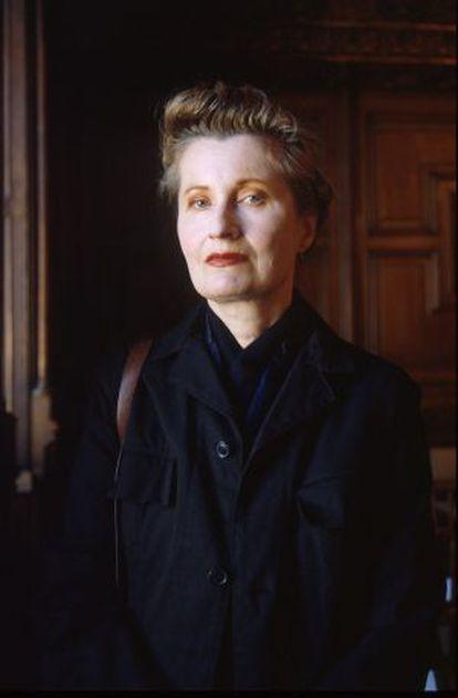 La escritora Elfriede Jelinek.
