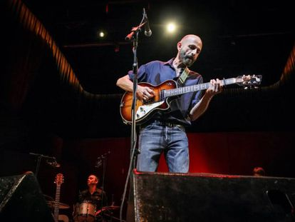 Josele Santiago, en los conciertos en Conde Duque en octubre del año pasado para grabar su nuevo disco.