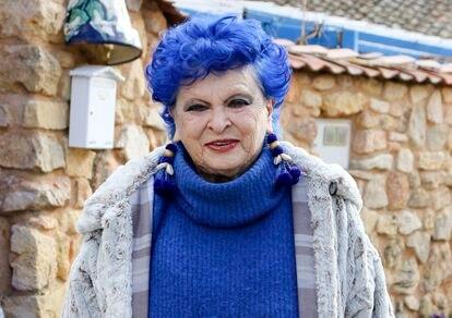 Lucía Bosé, en su casa de Brieva, Segovia.