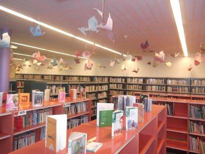 Zona infantil de la Biblioteca Pública de Palafrugell, en Girona.