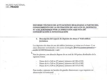 Informe técnico de actuaciones realizadas a partir del conocimiento de la filtración de agua en el depósito nº 4 de Jerónimo.