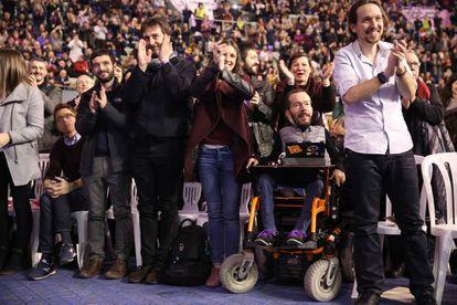 La segunda asamblea de Vistalegre, en febrero de 2017, hizo patente el nuevo reparto de poder en la dirección de Podemos, donde Pablo Echenique e Irene Montero asumieron más responsabilidad en detrimento de otros líderes como Errejón.