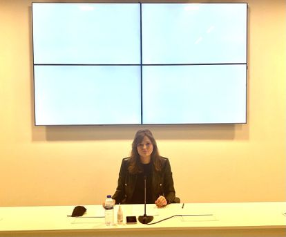 La única diputada de Ciudadanos en Ourense, Montserrat Lama, anuncia su paso al grupo mixto.