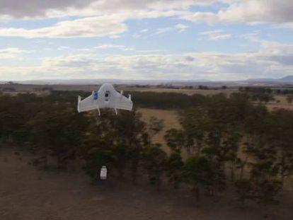 Primeras pruebas con los drones de reparto de Google.
