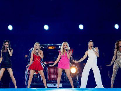 Las Spice Girls en la ceremonia de clausura de los Juegos Olímpicos de Londres en 2012.