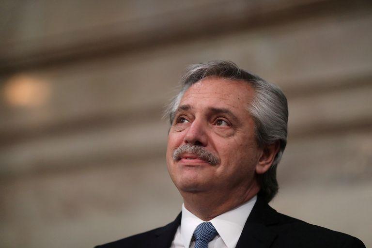 El presidente de Argentina, Alberto Fernández, el 1 de marzo en el Congreso.