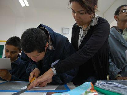 Alumnos del Instituto de Educación Especial de Túnez.