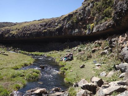 El refugio de Fincha Habera, en las montañas Bale de Etiopía, sirvió de hogar a varios grupos humanos durante milenios