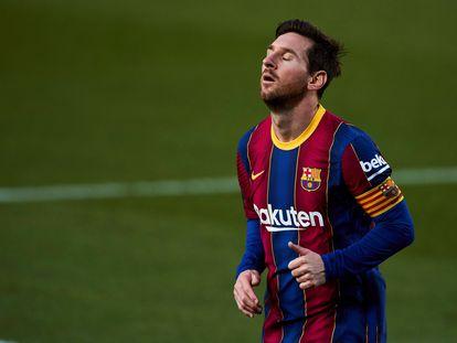 Messi durante un partido con el Barcelona.