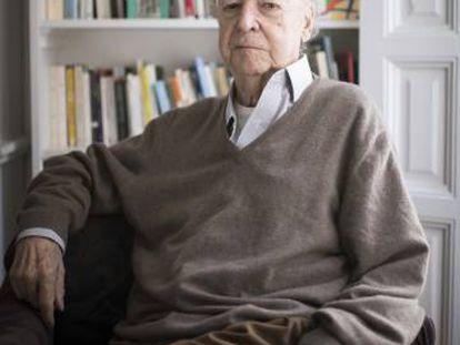 Jorge Edwards, en su casa en Madrid la semana pasada.