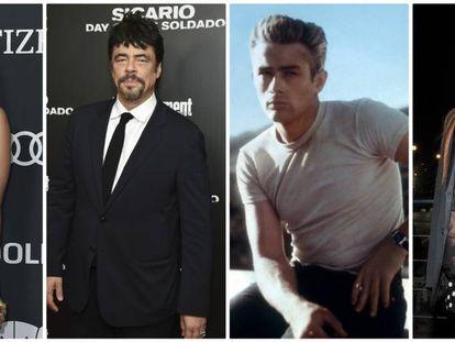Scarlett Johansson, Benicio del Toro, James Dean y Lindsay Lohan.
