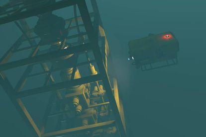 Imagen de los pequeños submarinos autónomos capaces de detectar fugas de crudo en oleoductos.