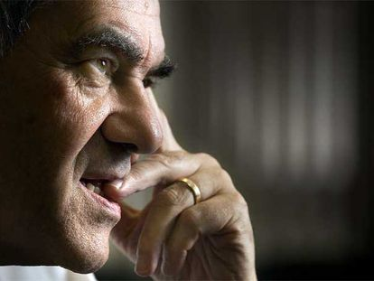 Ernest Maragall, en su despacho, ayer durante la entrevista.