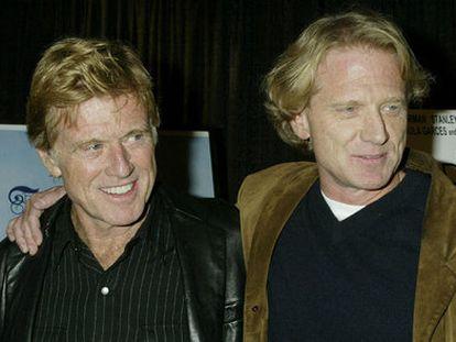 El actor Robert Redford y su hijo James Redford.