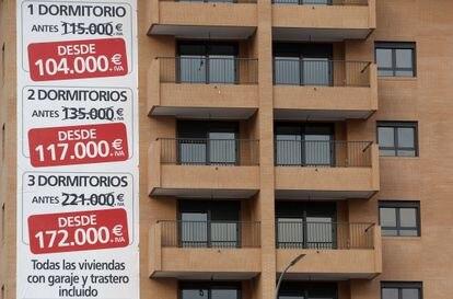 Viviendas en venta en Valencia, en una imagen de archivo.