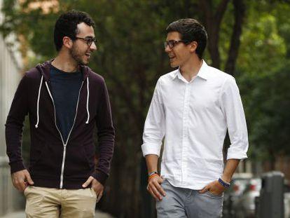 Juan Pablo Carrasco (derecha) y Álvaro Cerame, presidente y vicepresidente dela Coordinadora de Estudiantes de Medicina.
