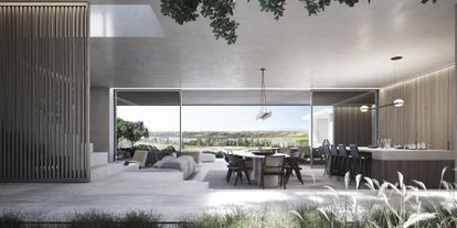 Recreation of a house under construction on the Los Flamingos golf course, in Marbella, by ARK Architects.