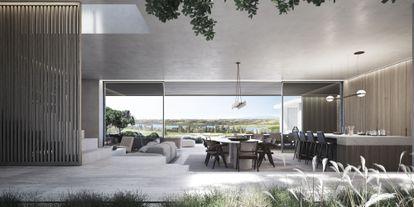 Recreación de una vivienda en construcción en el campo de golf Los Flamingos, en Marbella, de ARK Architects.