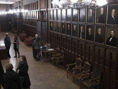 Galería de retratos del Ateneo de Madrid.
